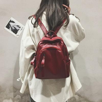 手提双肩背包新款韩版时尚潮流百搭书包个性小清新2018软皮背包女