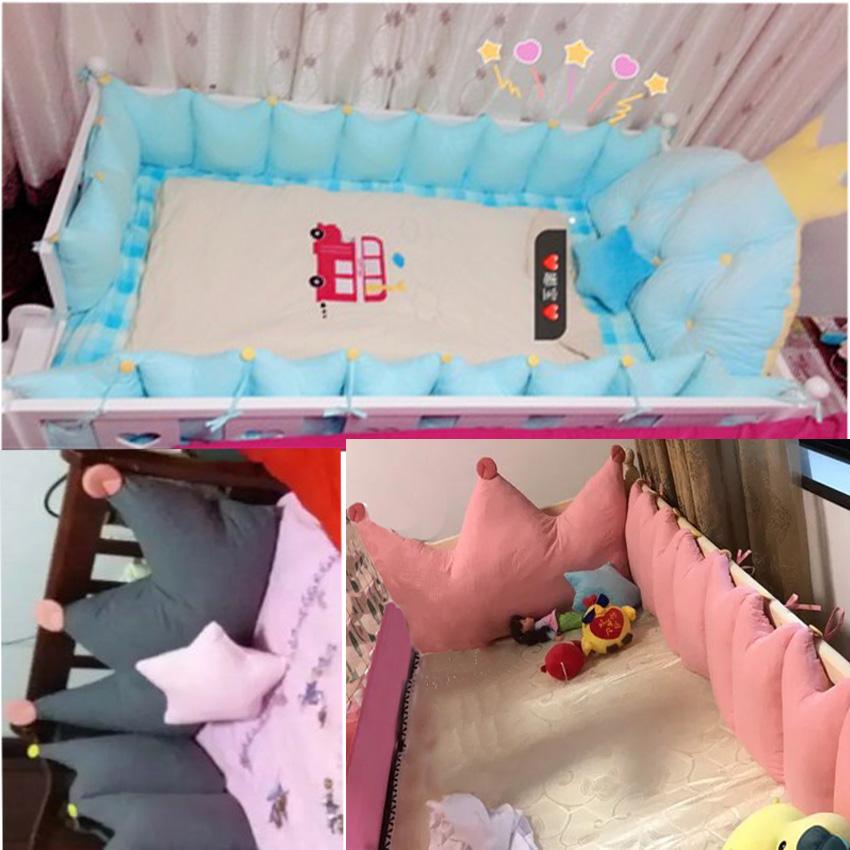护栏垫纯棉定做床上用品套件可拆洗儿童全棉床头大靠垫婴儿床围栏