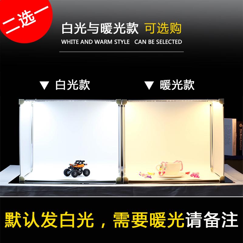 LED小型摄影棚 补光套装迷你淘宝拍摄拍照灯箱柔光箱简易摄影道具