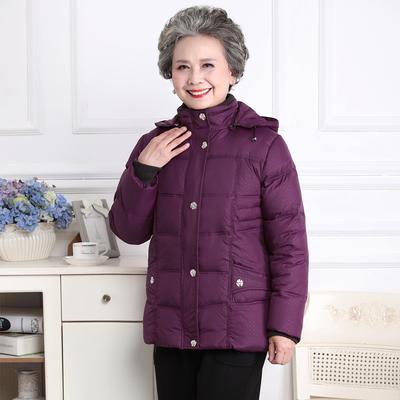 60-70-80岁中老年人羽绒服女装加厚老人衣服太太奶奶冬装外套妈妈