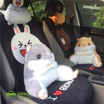 汽车抱枕被子两用卡通车载靠垫午休午睡多功能折叠空调被车内用品
