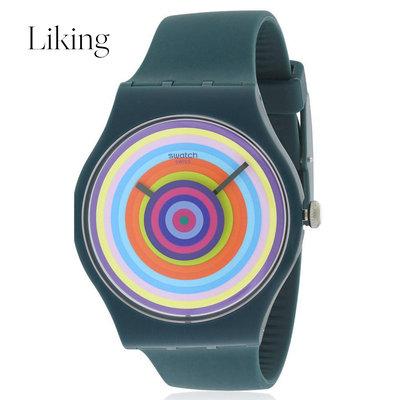 手表女绿色表带手表