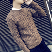 Men's sweater autumn and winter new Korean version of the trend of round neck sweater sweater head Slim sweater men's clothing