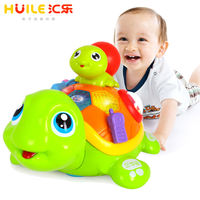 Hui Le baby learning crawling puzzle early education electric music parent-child turtle 6-12 months 0-1 years old baby toys