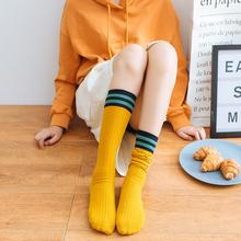 日系长筒袜ins潮小腿袜 袜子女中筒袜堆堆袜纯棉长袜韩版 夏季薄款图片