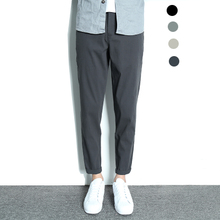 Buy Japanese retro nine-minute trousers for men, slim men's trousers, overalls, overalls, overalls, ice silk nine-minute trousers for men in summer