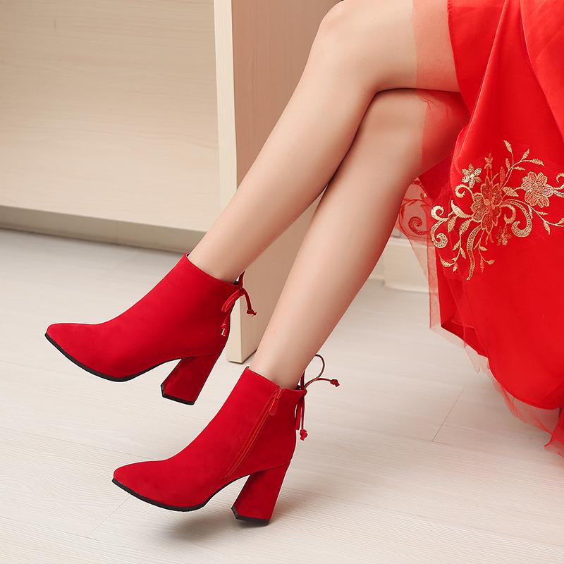 冬季新娘高跟鞋