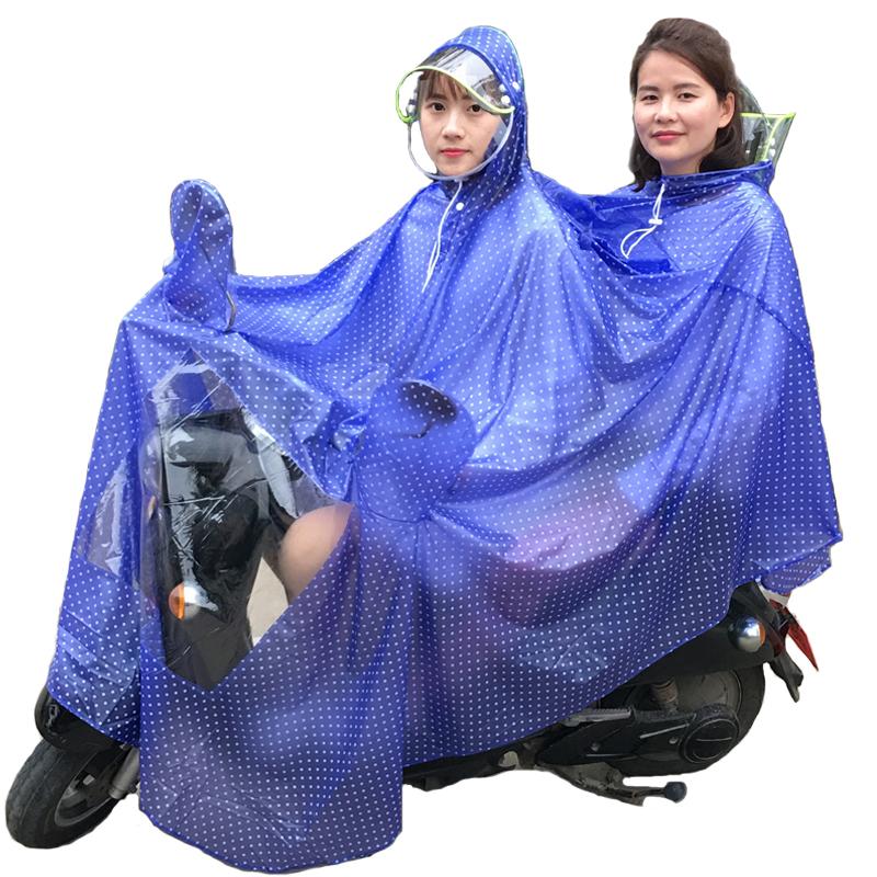 雨衣电瓶车双人母子成人骑行防水加大加厚电动车自行车摩托车雨披