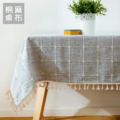 现代简约茶几桌布布艺棉麻小清新北欧风格ins餐桌布长方形台布正