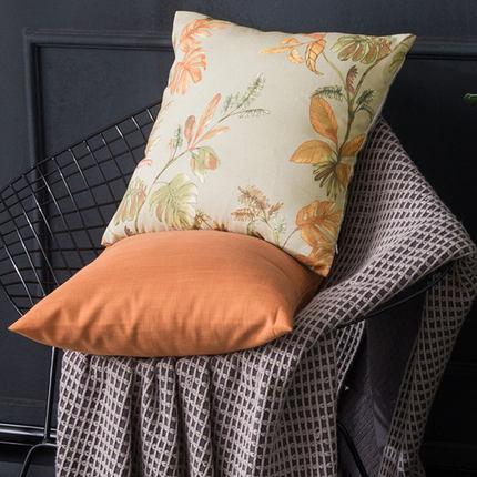 美式长方形客厅纯色沙发抱枕北欧布艺小清新卧室床头靠枕套不含芯
