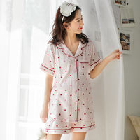Summer thin section cotton gauze ladies short-sleeved shorts month clothes cotton pregnant women pajamas postpartum feeding breastfeeding clothes