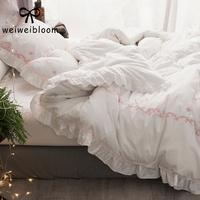 白色床品四件套纯棉