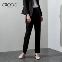 G2000女装商务休闲修身西裤 秋季新款气质黑色百搭中腰直筒正装裤