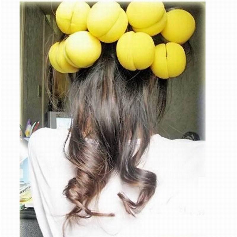 淘乐士蛋糕型海绵发卷 海绵卷发球 梨花卷发器 可戴着睡觉 12个价