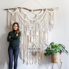ins北欧风床头挂饰 饰样板房软装 波西米亚手工编织挂毯沙发背景装