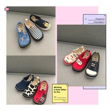 男女宝宝幼儿园室内鞋 一脚蹬防滑透气鞋 熊本熊儿童帆布鞋 2018秋款