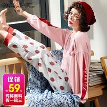 夏季情侣睡衣女短袖韩版夏天宽松男女士卡通加大码休闲家居服套装