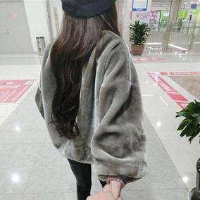 毛茸茸卫衣女冬季新款金丝绒外套 韩国ulzzang宽松加绒加厚上衣潮