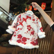 过年喜庆拜年服婴儿周岁礼服 宝宝旗袍冬女童唐装 中国风儿童新年装