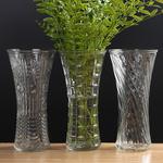 花瓶摆件客厅插画假花电视柜创意个性干花花瓶玻璃透明小号小清新