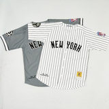 Yankees NY baseball uniform Harajuku short-sleeved cardigan T-shirt male loose large size bf long street dance hip-hop women