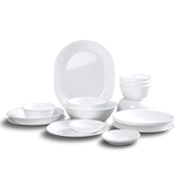 Corning tableware 20 pieces of white 32 piece dish set Household imported heat-resistant glass bowl rice bowl noodle bowl plate