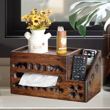 异丽守径喙δ苤浇砗幸?仄魇漳煽吞茶几创意简约复古木质抽纸盒