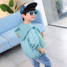 帅气中童小童8岁小男孩 男童防晒衣服夏季3宝宝连帽外套4超轻5薄款图片