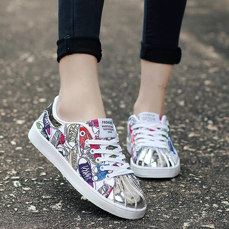 乔丹大码女鞋韩版百搭平底板鞋女鞋青少年鞋子潮流春季运动鞋女防