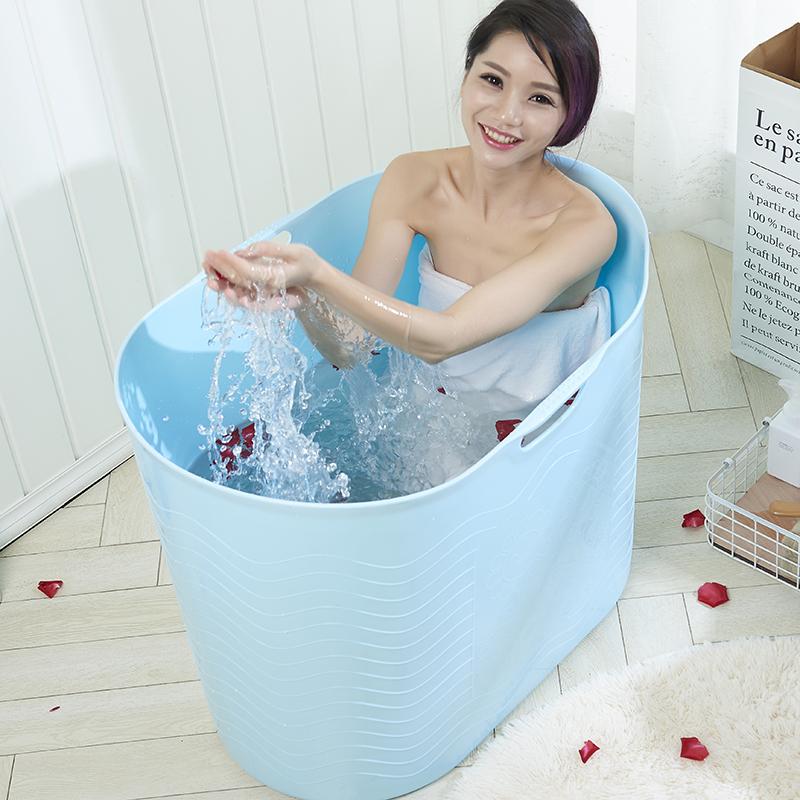 全身折叠洗澡盆浴桶成人泡澡桶家用加厚塑料高水位大人洗澡桶浴盆