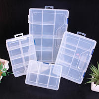 Multi-grid transparent detachable hardware components, debris classification, classified, sorting, finishing, plastic storage box