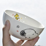 Japanese ceramic snoopy rice bowl family soup bowl noodle bowl cartoon children eat rice bowl 5.5-inch large bowl tableware