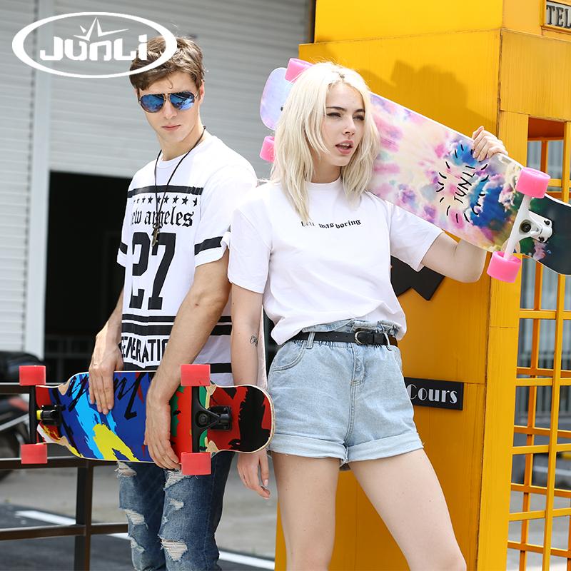 君立双翘滑板长板初学者成人专业双翘板男女生公路四轮舞板滑板