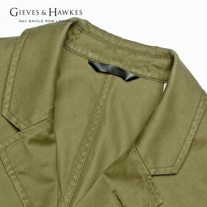 GIEVES&HAWKES/君皇仕男士纯棉休闲礼服领西服单衣G3554ER121