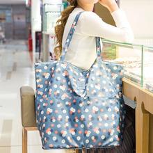 韩版折叠便携手提购物袋单肩女大包简约车大容量帆布防水环保袋子