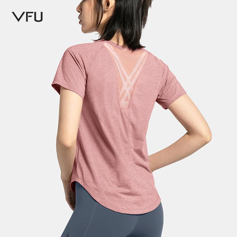 VFU大码运动上衣女宽松速干衣跑步健身短袖t恤新款休闲瑜伽服夏季