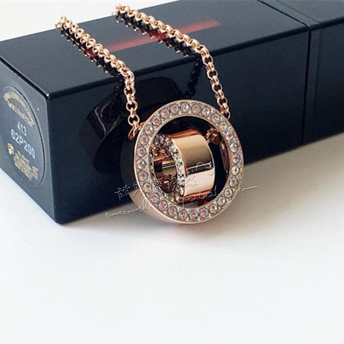 联保  施华洛世奇双环滚动时来运转水晶项链5289495  5349348