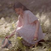 北冥有渔原创【繁星入梦】蝴蝶结甜美公主裙珍珠蕾丝两件套连衣裙