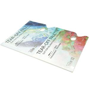 传奇之路美术纸质调色可揭水粉调色纸丙烯水彩调色本油画免洗调色