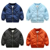 男童加厚外套 冬装2018新款童装儿童立领纯色棉袄 宝宝棉衣棉服潮