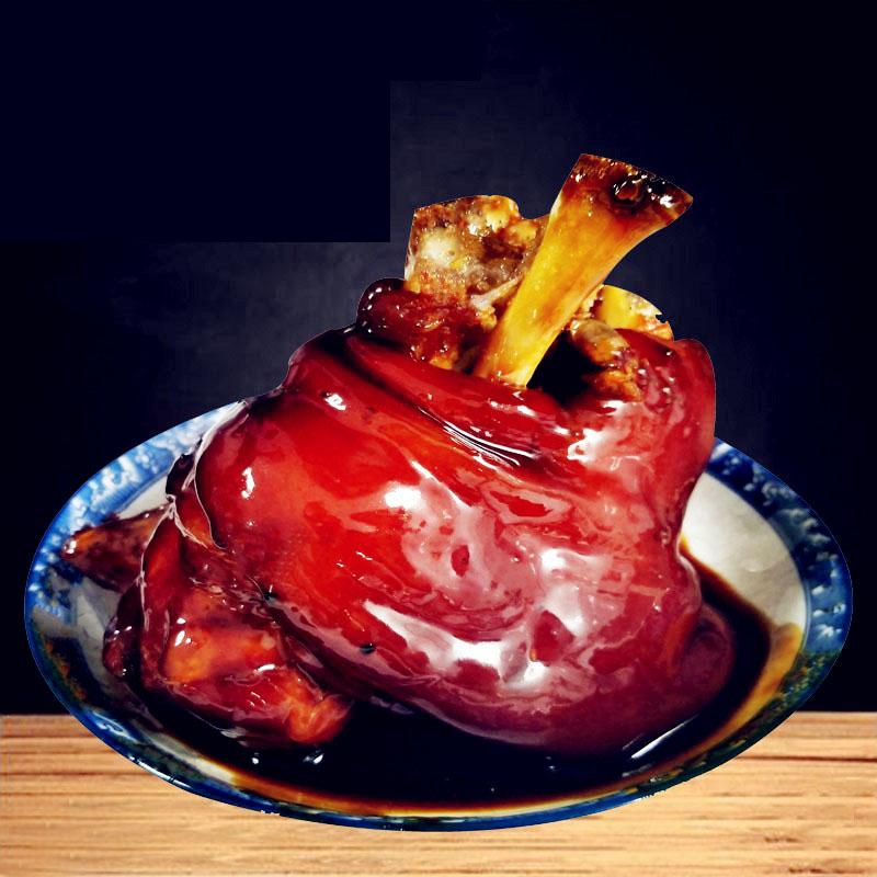 美食周庄特产水乡万三蹄髈猪肘子熟食香辣味800克猪蹄真空包邮