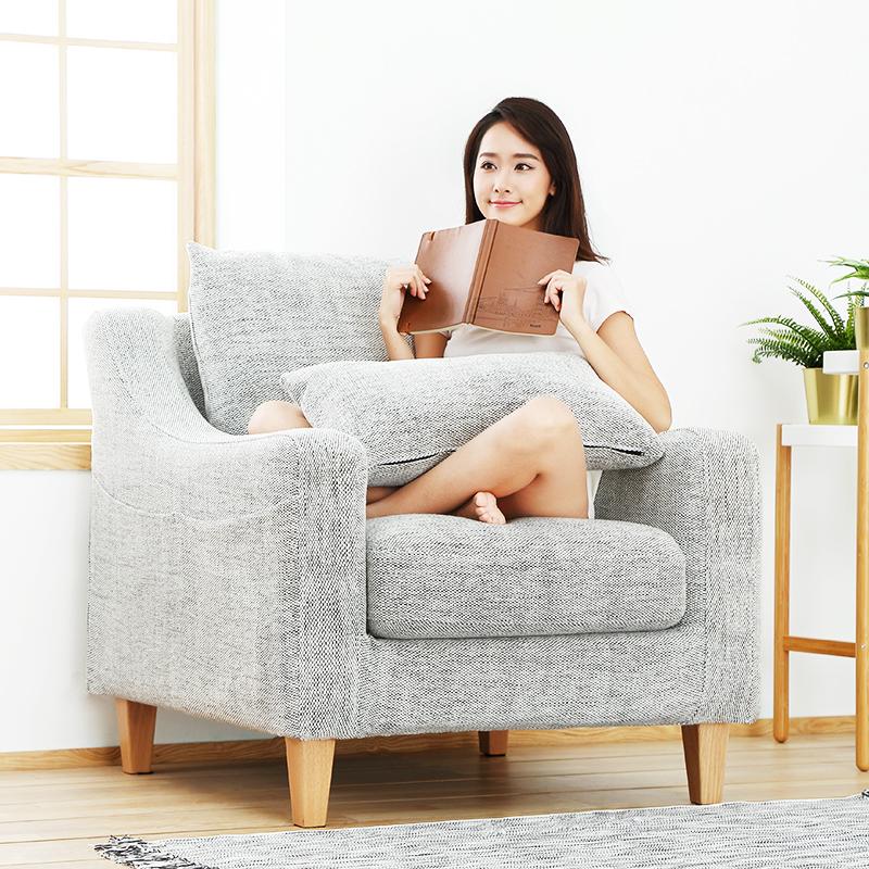 小米生态链企业8H美式简约独立弹簧布艺沙发客厅小户型三人位家具