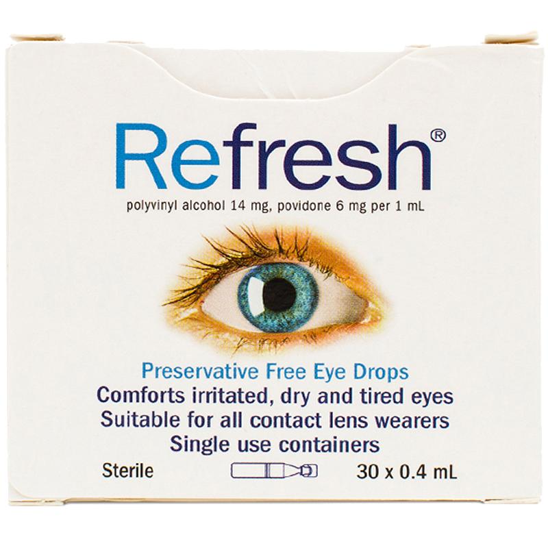 澳洲refresh人工泪液滴眼液隐形眼镜眼药水缓解疲劳可用无防腐剂