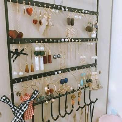创意多层耳环架饰品展示架子家用耳钉耳坠耳饰收纳挂架项链首饰盒