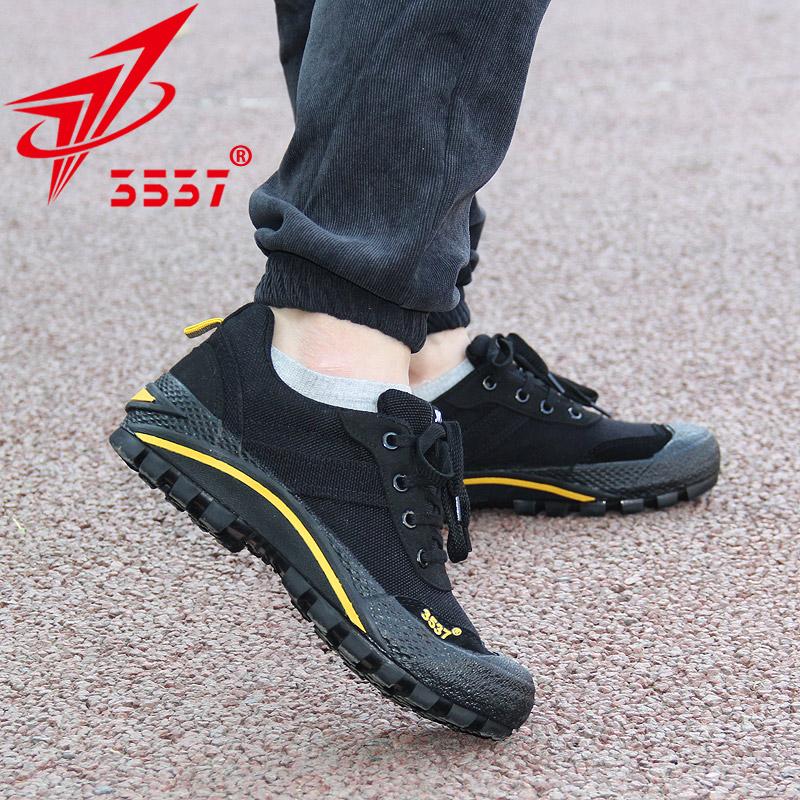 3537正品解放鞋男军鞋黑色作训鞋耐磨训练鞋夏季网面跑步新式胶鞋