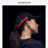AGUACATE elite fitness hat tide brand contrast color adjustment with curved hat baseball cap visor for men and women