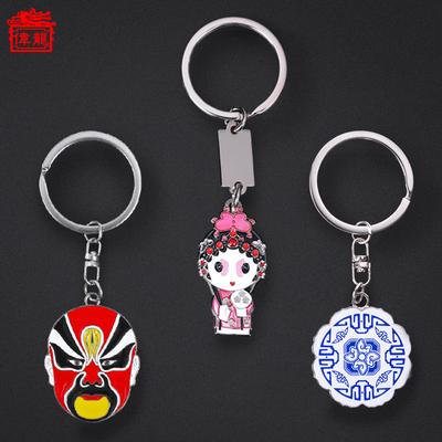 中国风小礼品北京纪念品圣诞节礼物京剧脸谱钥匙扣小挂件送老外