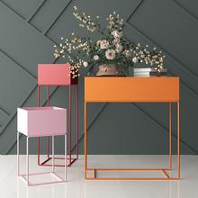 设计师北欧铁艺花架现代简约置物架落地式花盆绿植室内客厅包邮