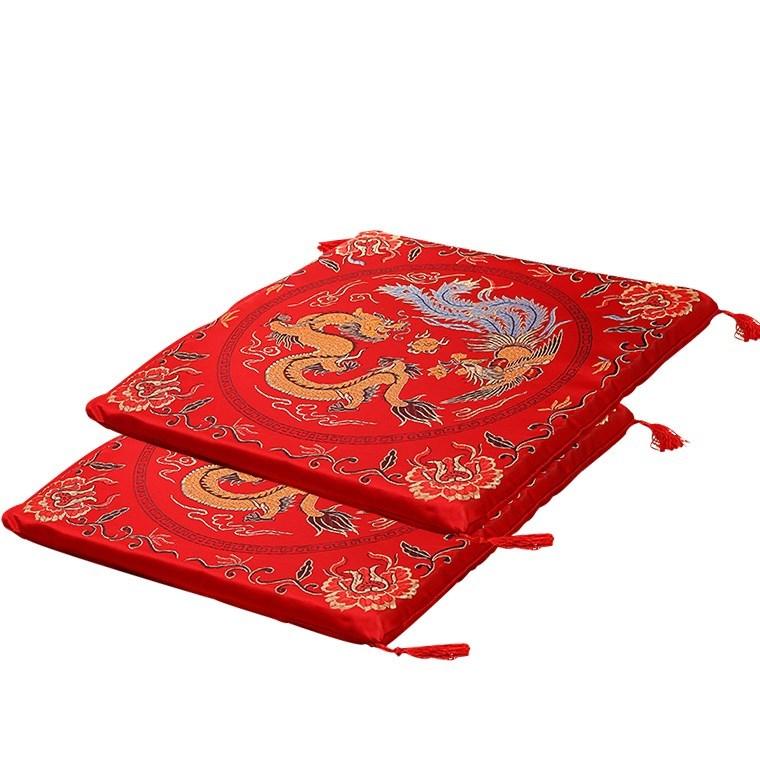 跪垫结婚婚庆敬茶喜垫子结婚跪垫一对中式婚礼新娘磕头龙凤跪垫