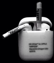 潮牌off-white苹果无线蓝牙耳机保护套AirPods防丢贴纸硅胶套定制